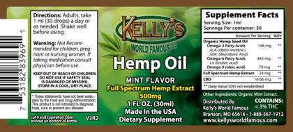 Hemp Oil with THC 500 mg