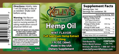 Hemp Oil with THC 250mg